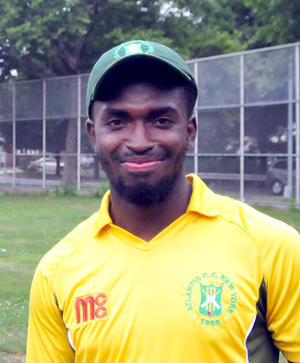 Michael Noble had figures of 4 for 29, despite Atlantis Cricket Club falling to Liberty Sports Club.