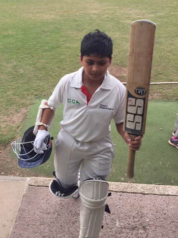 Young Ved Patel hit an amazing 153.