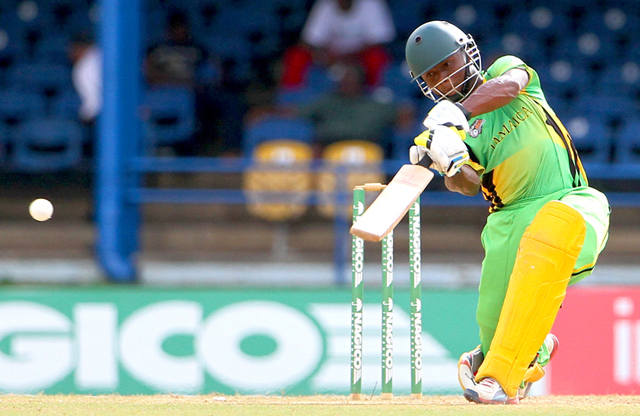 Andre McCarthy of Jamaica registered 118 against ICC Americas. Photos by WICB Media/Ashley Allen