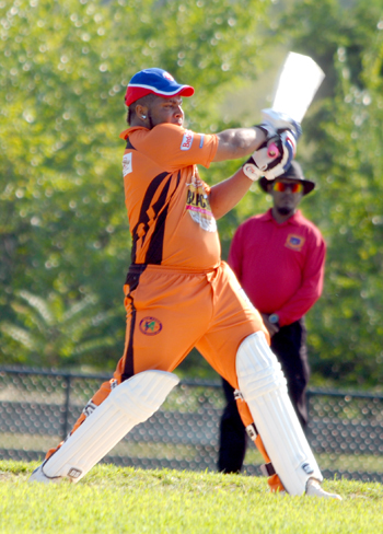 Former West Indies Under-19 player Tristan Coleman hit 101 in Westbury win. Photo by Shiek Mohamed