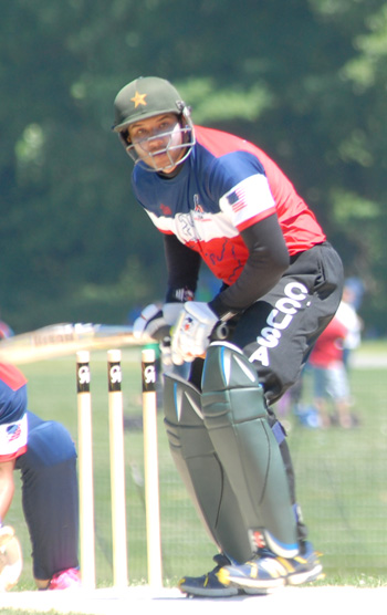 Faisal Taj hit his second consecutive half century of the season. Photo by Shiek Mohamed