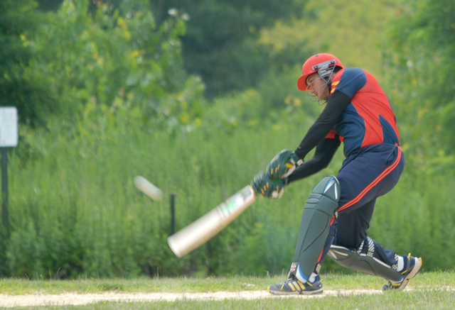 Faisal Taj hit 68 which included seven fours and two sixes. Photo by Shiek Mohamed