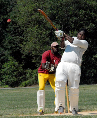 Rasheem James hit a blistering 57 not out from 22 balls which included four fours and five sixes.