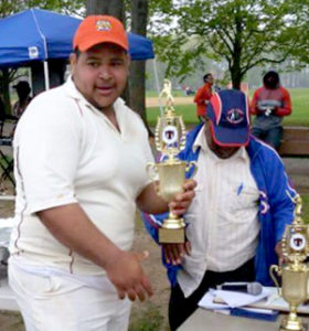 Romario Neil of Brooklyn Cricket League.