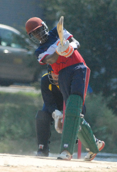 Randall Wilson during his knock of 76.