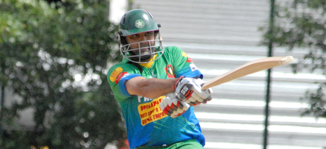 Shahid Shahzad led Everest batting with a brilliant 78. Photo by Shiek Mohamed