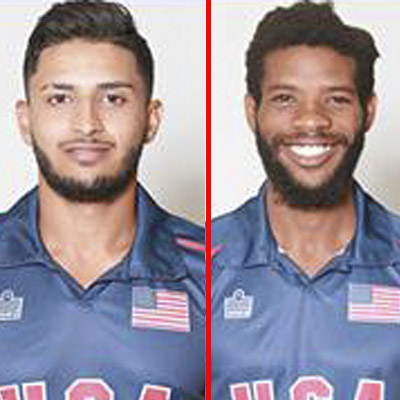 Fahad Babar (left) and Akeem Dodson shared a partnership of 127 for the fourth wicket.