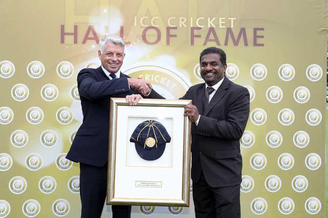 Muttiah Muralidaran Formally Inducted Into ICC Cricket Hall Of Fame