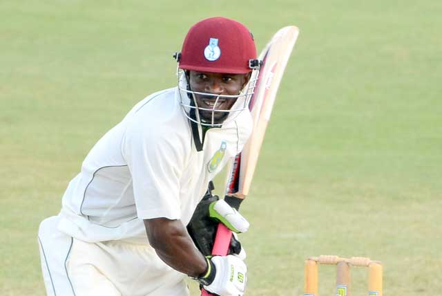 Devon Smith of Windward Islands Volcanoes struck his 30th first-class career hundred. WICB Media Photo/Nicholas Reid