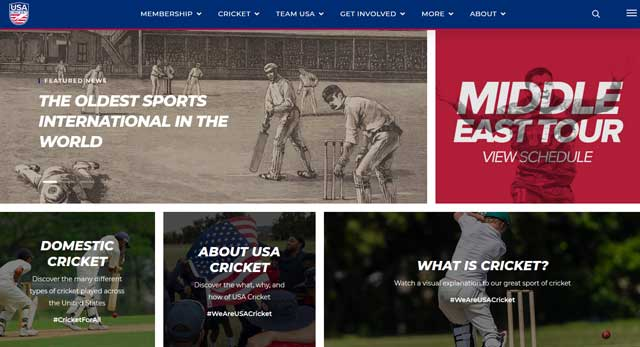 USA Cricket Has A New Home On The Web