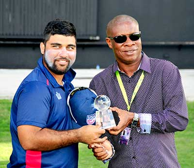 Sunny Sohal collects mvp award