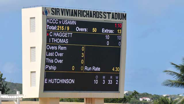 Sir Viv Ricards Stadium scoreboard
