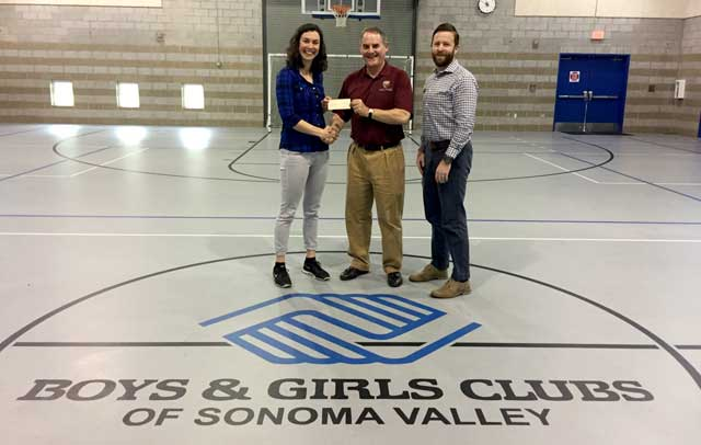 Napa valley cricket club donation