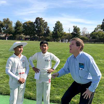 Northern California Cricket Association youth cricket coin toss