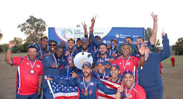 Anand Tummala and usa cricket team